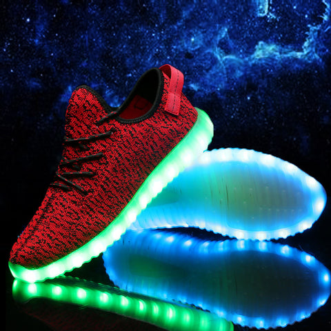 2016 Men Led Casual Shoe Luxury Brand Dancing Light Usb Superstars Canvas Schoen Zapatos De Marca Cheap Chaussure Lumineuse - Alternative Measures