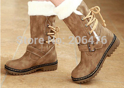 2014 New Arrivals Winter boots Women fashion Warm Fur Shoes Half Knee High Boots cotton Snow boots Motorcycle Autumn women boots - Alternative Measures