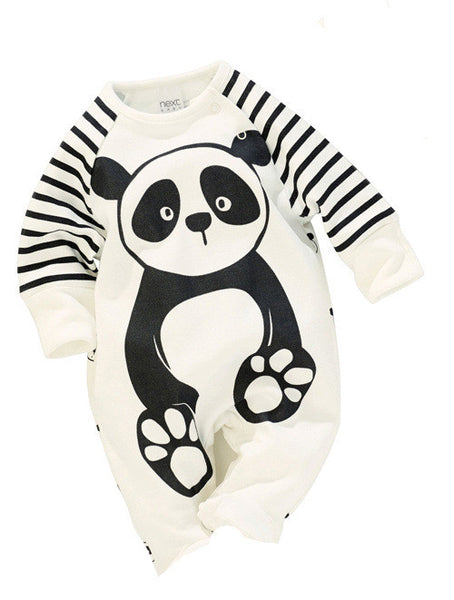 100% Cotton Baby Boys Girls Long sleeve Romper stripe panda jumpsuit clothes newborn infant baby clothing Christmas gift - Alternative Measures
