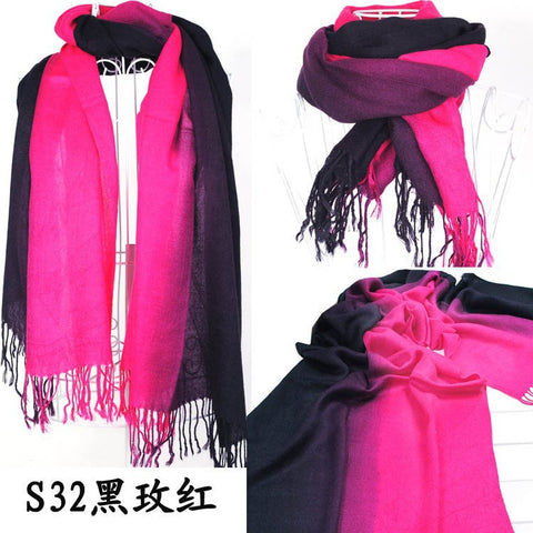 2013 Brand New Women's Fashion Long large Soft Shawl Stole Cashmere Scarf Gradient scarf wraps - Alternative Measures