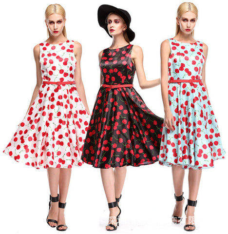 2015 Summer Style Women Hepburn Dresses O-Neck Retro Casual Party Robe Rockabilly 50s Vintage Party Vestidos Plus Size S-2XL Alternative Measures - Brides & Bridesmaids - Wedding, Bridal, Prom, Formal Gown - Alternative Measures