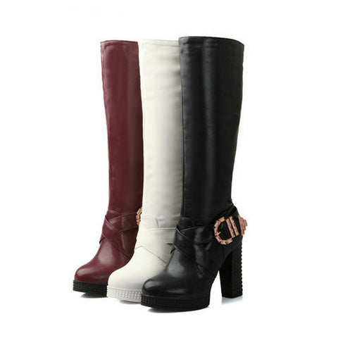 2014 special offer winter women boots botas femininas womens ladies knee high boots motorcycle boots sexy high heeled shoes - Alternative Measures