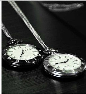 DOORCRASHER Pocket watch antique retro alloy roman numerals pocket watch Alternative Measures - Alternative Measures