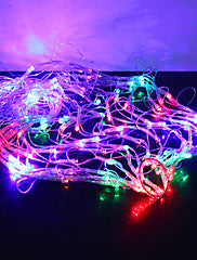 1M 120-LED Colorful Light 8 Sparking Modes Spider Web Shaped String Fairy Lamp (220V) - Alternative Measures