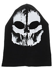#11 Outdoor Halloween Cosplay Skull Skeleton Ghost Head Mask - Black + White - Alternative Measures