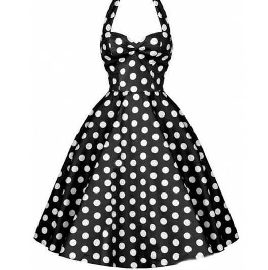 NEW ARRIVAL Black & White Polkadots Made-to-Order Retro 50s Pinup Girl Rockabilly Style Dress by After The Rain - Brides & Bridesmaids - Wedding, Bridal, Prom, Formal Gown - Alternative Measures -