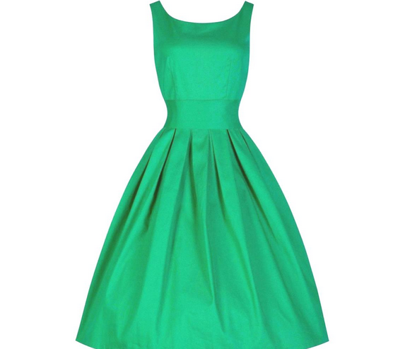 Green Made-to-Order Retro 50s Pinup Girl Rockabilly Style Dress by After The Rain - Brides & Bridesmaids - Wedding, Bridal, Prom, Formal Gown - Alternative Measures