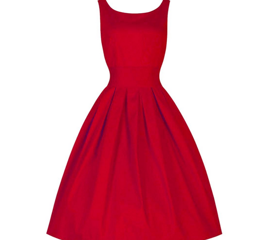 Red Made-to-Order Retro 50s Pinup Girl Rockabilly Style Dress by After The Rain - Brides & Bridesmaids - Wedding, Bridal, Prom, Formal Gown - Alternative Measures -