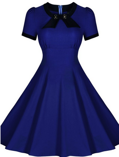 Blue Made-to-Order Retro 50s Pinup Girl Rockabilly Style Dress by After The Rain - Brides & Bridesmaids - Wedding, Bridal, Prom, Formal Gown - Alternative Measures