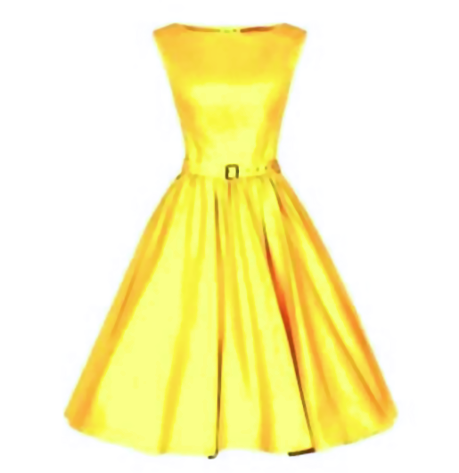 Yellow Made-to-Order Retro 50s Pinup Girl Rockabilly Style Dress by After The Rain - Brides & Bridesmaids - Wedding, Bridal, Prom, Formal Gown - Alternative Measures -