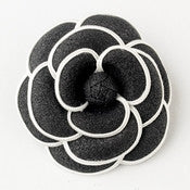 * Oldies Black & White Flower Hair Clip 9944 with Brooch Pin - Alternative Measures