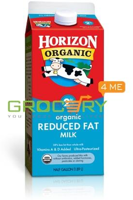 Horizon Organic Reduced Fat Milk 2% 19 Dairy