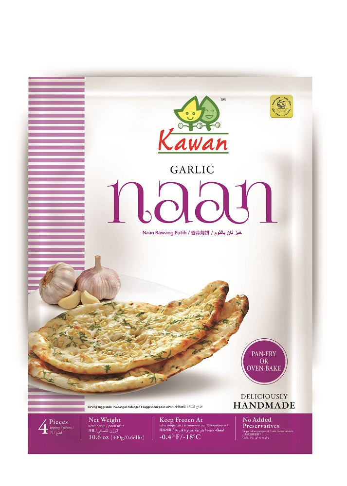 kawan Garlic naan 4 pieces