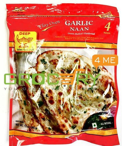 Homestyle Garlic Naan (Deep) 4 20 Frozen