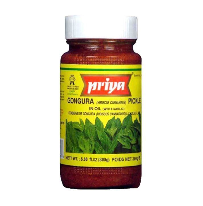 Gongura Red Chilli Pickle with Garic (Priya)