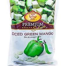 Deep premium diced green mango 340