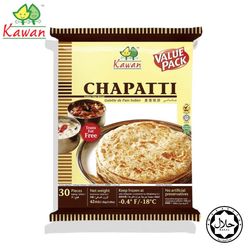 Kawan Chapatti Value Pack (30 pcs - 1.2kg)