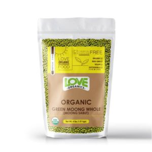 Love Organic Green Moong Whole 2 lb