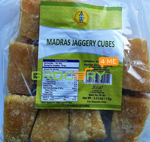 Madras Jaggery Cubes (Shastha Foods) 2lb
