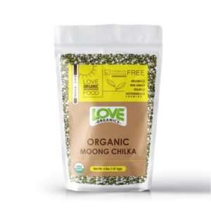 Love Organics Moong Split with shell / Moong Chilka 2lb