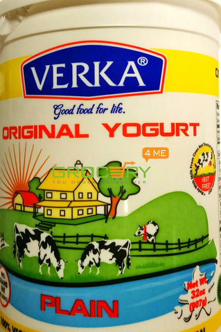 Original Yogurt Plain (Verka) 907G 19 Dairy