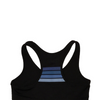 Bolt Sports Bra- Black/Blue Stripes