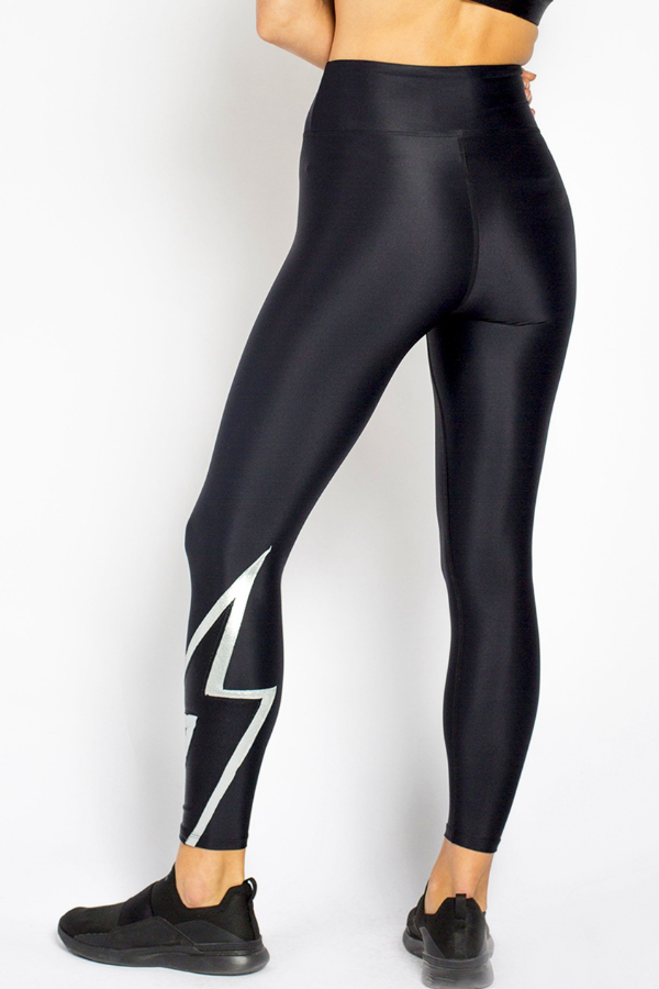 Bolt Legging — Black/Silver/Onyx
