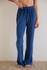 Terry Wide Leg Pant- Indigo