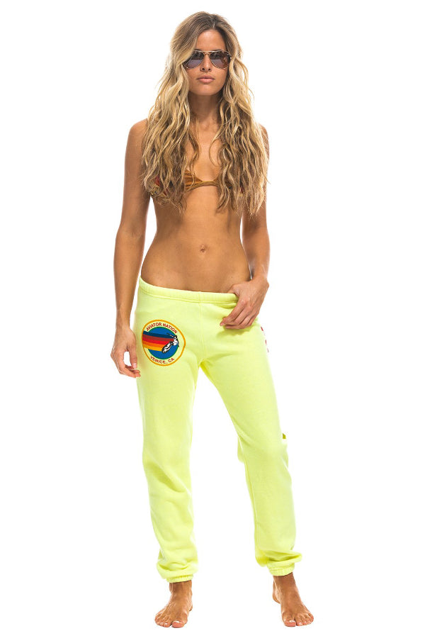 Women's Sweatpants - Neon Yellow