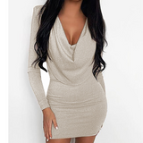 Slim Sexy Package Hip Long-Sleeved Dress