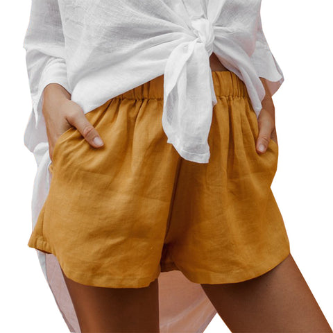 Loose Solid Color Shorts