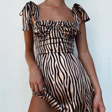 Sexy Striped Sleeveless Dress