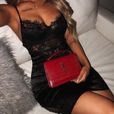 Lace Sexy Sling Bag Hip Dress