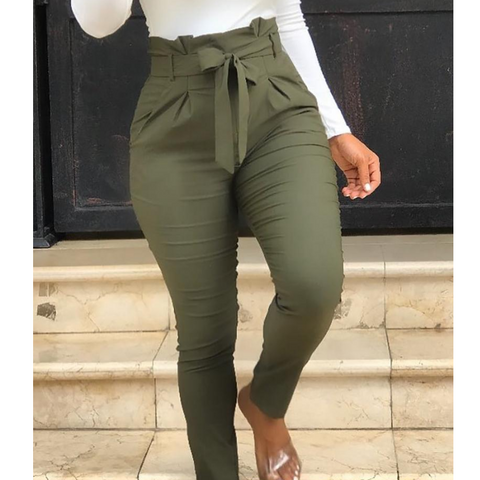 Casual Army Green Pants