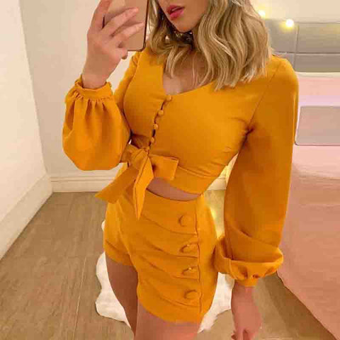 Fashion Short Sleeve Two-piece Set