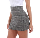 High Waist Slim Plaid Bag Hip Skirt