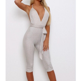 Sexy V-Neck Sleeveless Jumpsuit