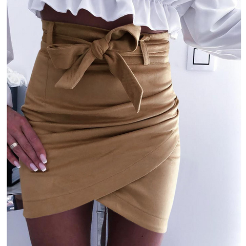 Solid Color Women Sexy Skirt
