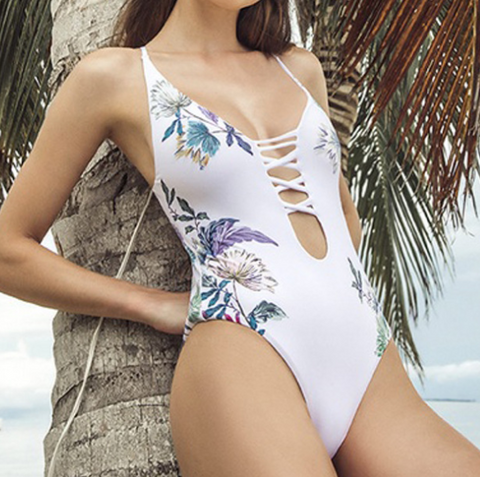 Design Sexy One-Piece Printed Bikini Swimsuit