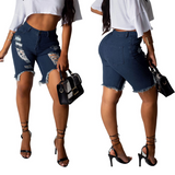 Fashion High Waist Stretch Sexy Denim Shorts