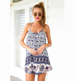 SWEET BABY ELEPHANT PATTERN PRINTING HARNESS DRESS