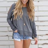 Women'S Off-The-Shoulder Long-Sleeved Sweater