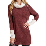 Women'S Casual Long-Sleeved High-Necked Sweater