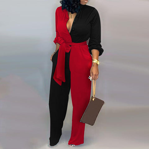 Design Sexy Long Sleeve Jumpsuit