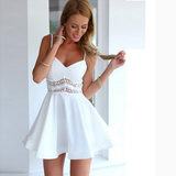 FASHION V-NECK SLEEVELESS LACE DRESS
