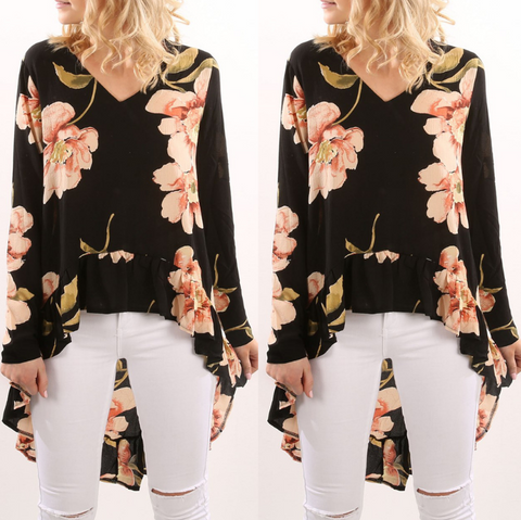 Fashion Printed Long-Sleeved Shirt