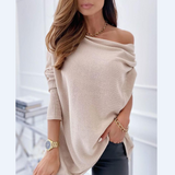 Long Sleeve Strapless Casual Sweater