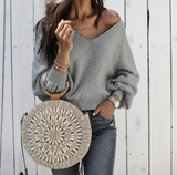Fashion Comfortable Round Neck Long-Sleeved Sweater