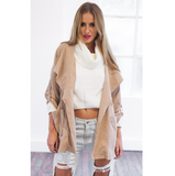 Fashion long-sleeved hooded jacket