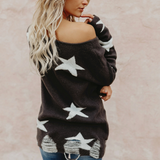 Women'S Loose Long Sleeves Knitted Sweaters